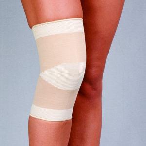 Opaska stawu kolanowego przeciwreumatyczna, dziana – z bursztynem